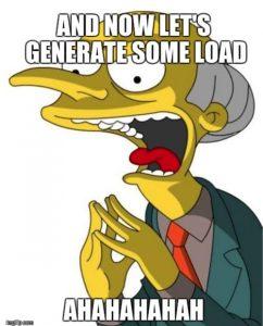 generate load on server meme