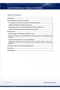 load performance testing in production whitepaper