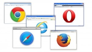 Screens in web browsers