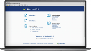 NeoLoad Welcome Screen