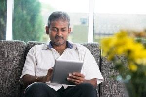 Person on iPad